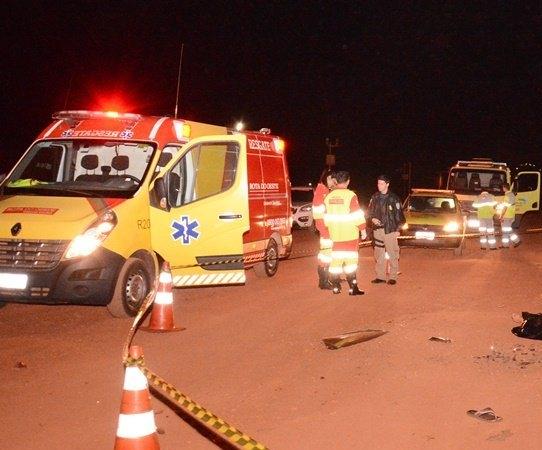Acidente entre carro e carreta na BR-163 mata cinco pessoas